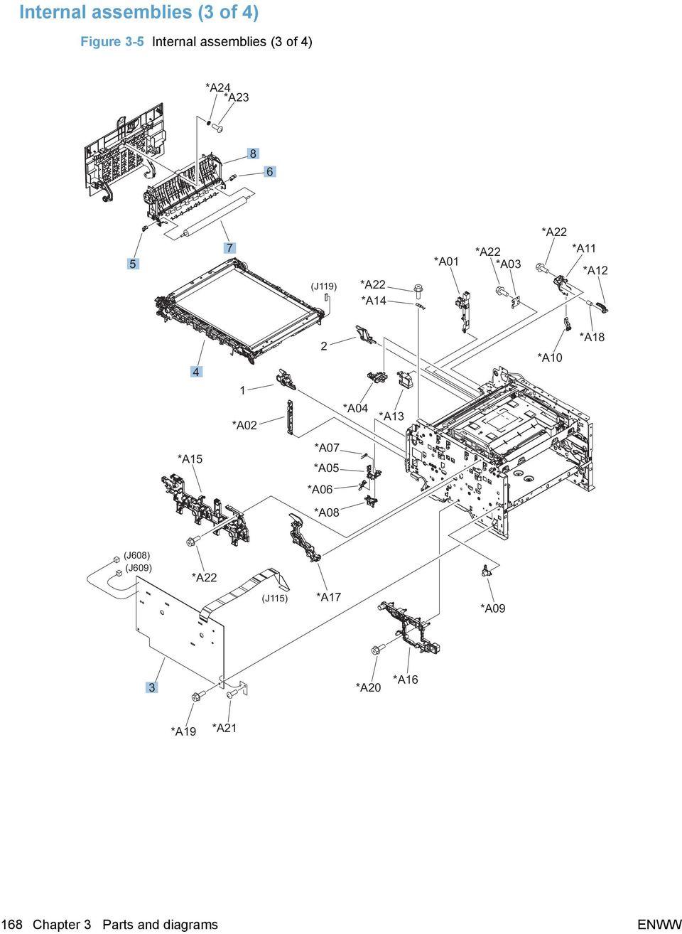 Hp Color Laserjet 2600n Parts Diagram. Top Cover Remove
