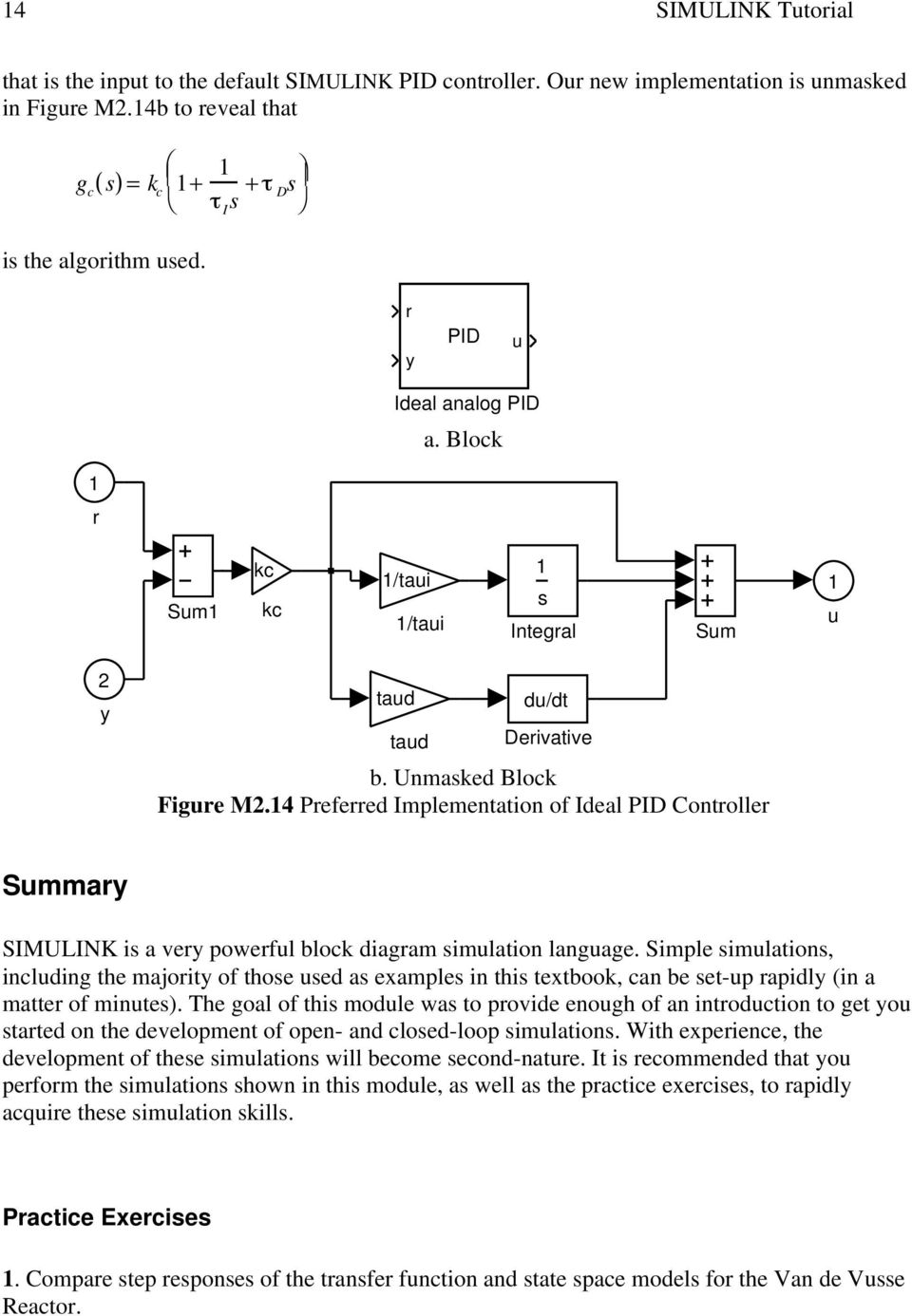 medium resolution of 4 preferred implementation of ideal pid controller summary simulink is a very powerful block diagram simulation