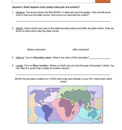 Student Exploration: Plate Tectonics - PDF Free Download [ 1189 x 960 Pixel ]