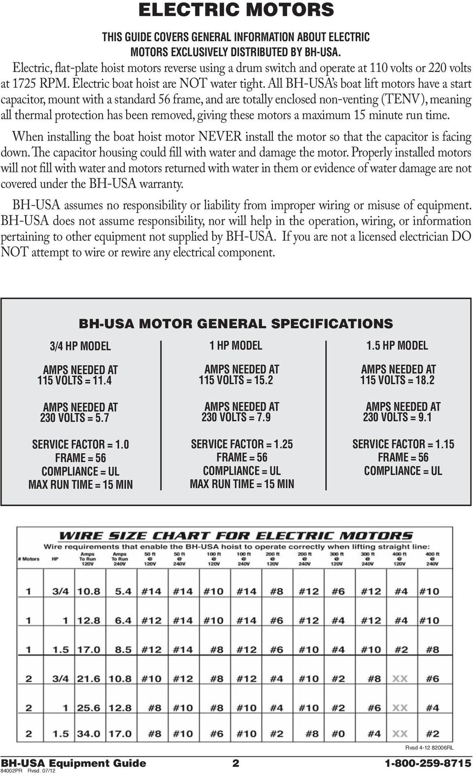 medium resolution of all bh usa s boat lift motors have a start capacitor mount with a
