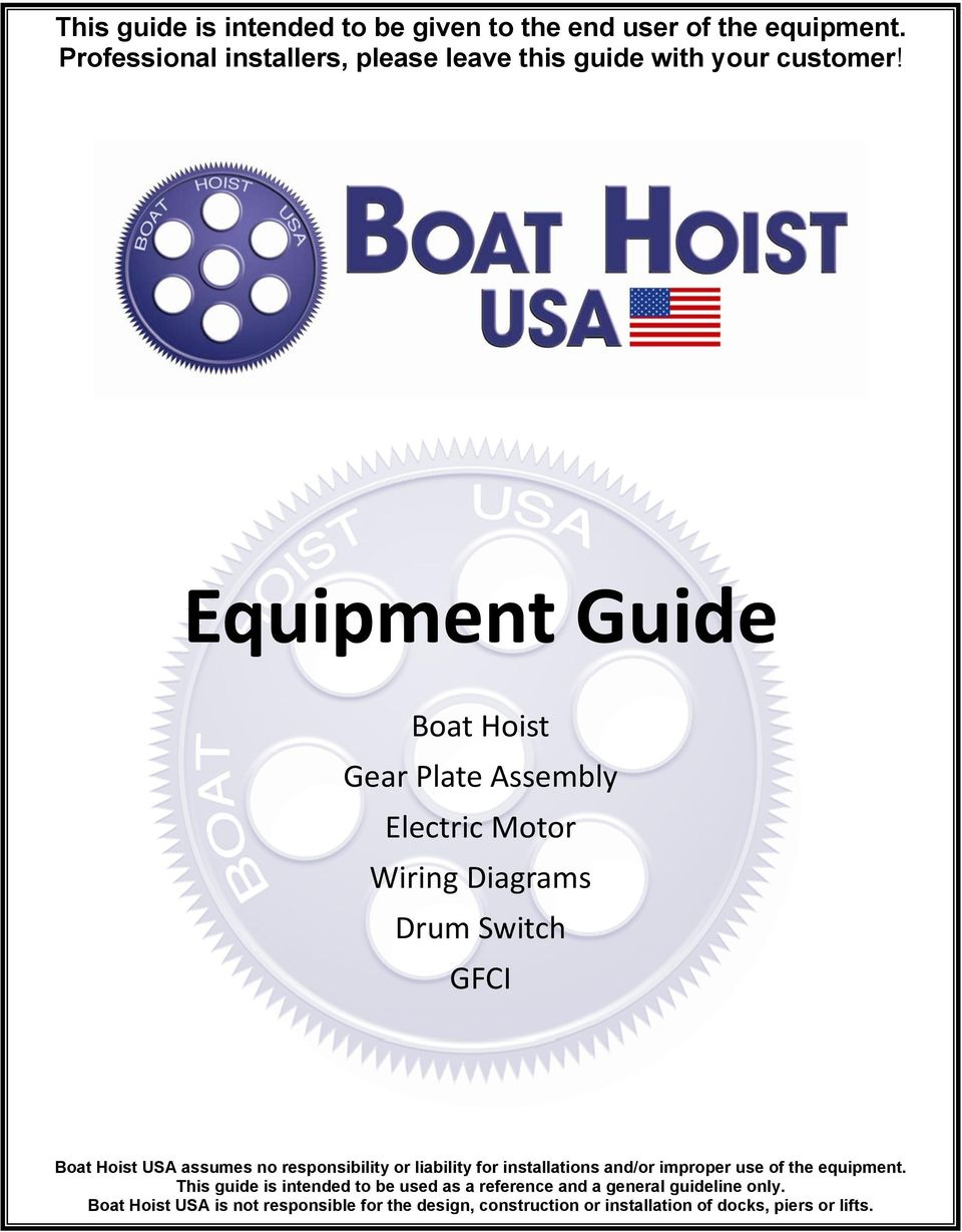 medium resolution of equipment guide boat hoist gear plate assembly electric motor wiring diagrams drum switch gfci boat hoist
