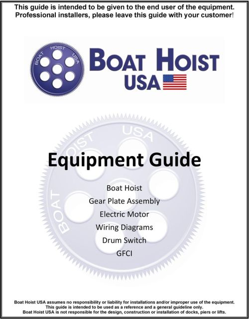 small resolution of equipment guide boat hoist gear plate assembly electric motor wiring diagrams drum switch gfci boat hoist