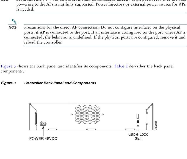 Note Precautions For The Direct Ap Connection Do Not Configure Interfaces On The Physical Ports