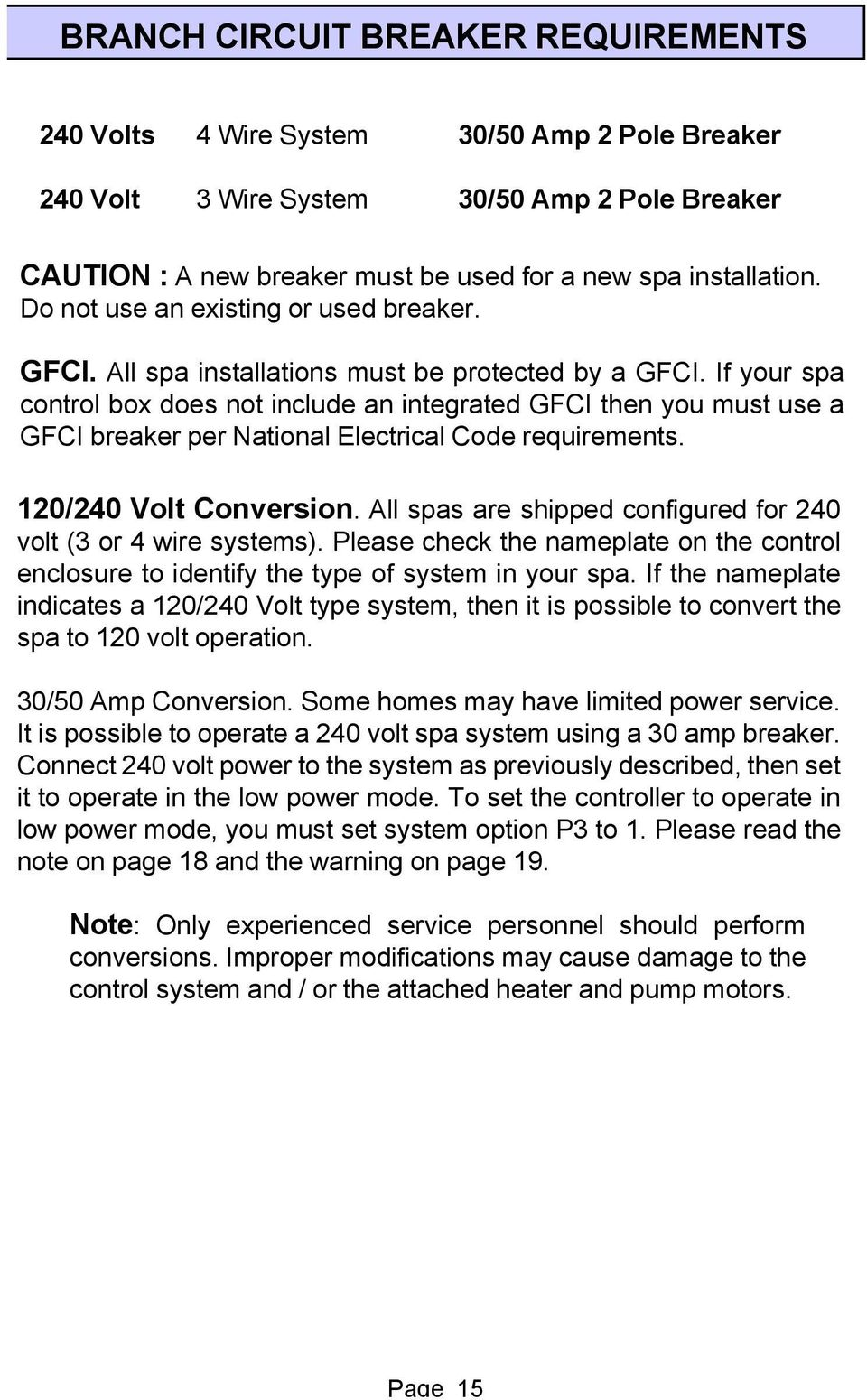 hight resolution of if your spa control box does not include an integrated gfci then you must use a