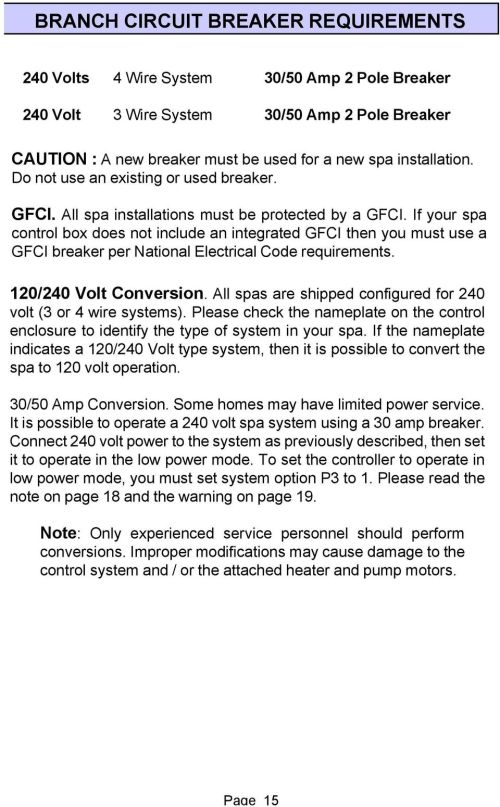 small resolution of if your spa control box does not include an integrated gfci then you must use a