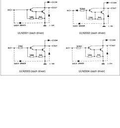 schematic diagram uln2001 each driver uln2002 [ 960 x 1445 Pixel ]