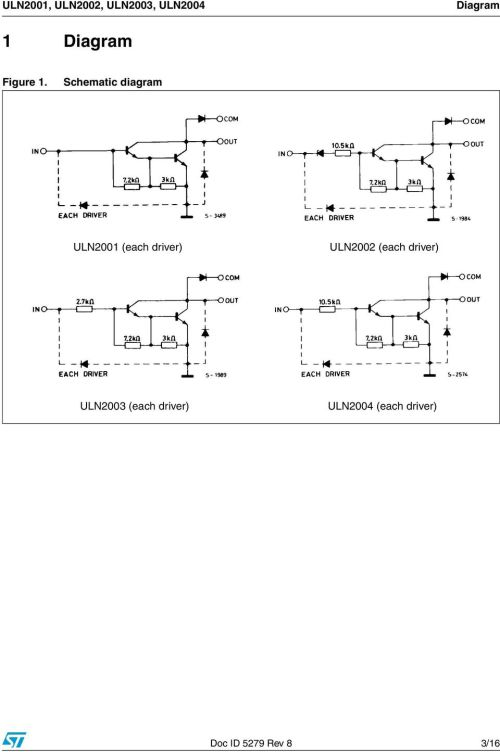 small resolution of schematic diagram uln2001 each driver uln2002