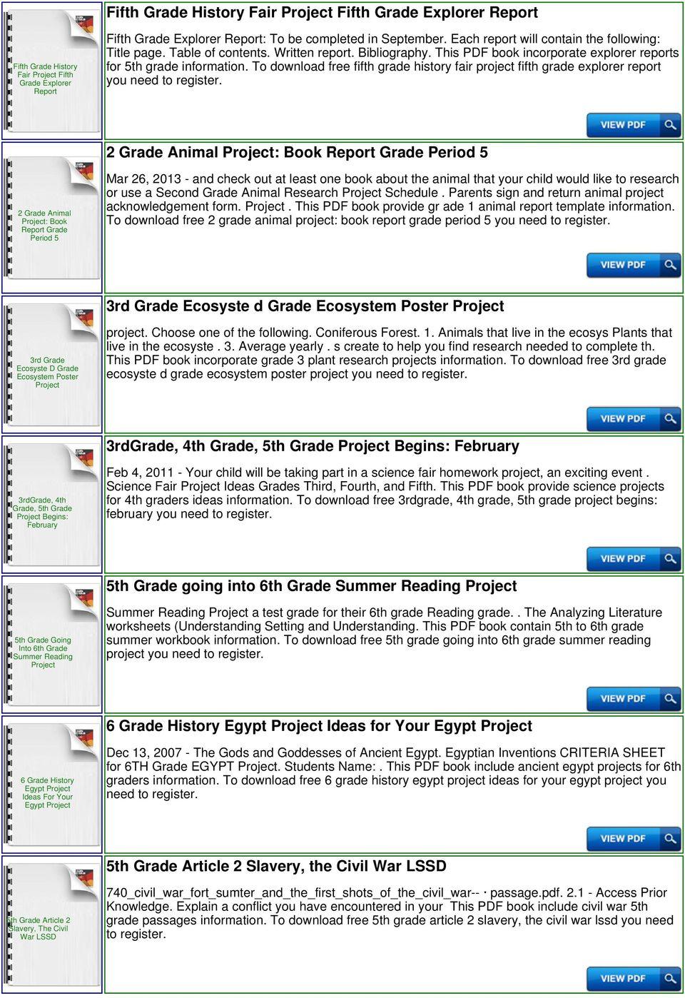 hight resolution of 5th Grade Civil War Project - PDF Free Download