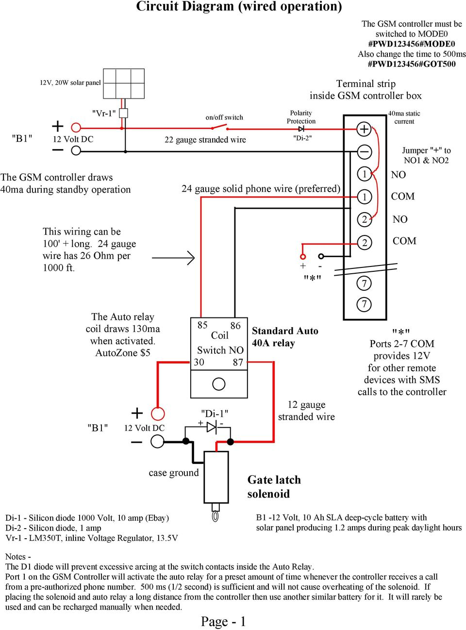 medium resolution of static current no jumper to no1 no2 this wiring can be 100 2 circuit diagram wireless operation 12v
