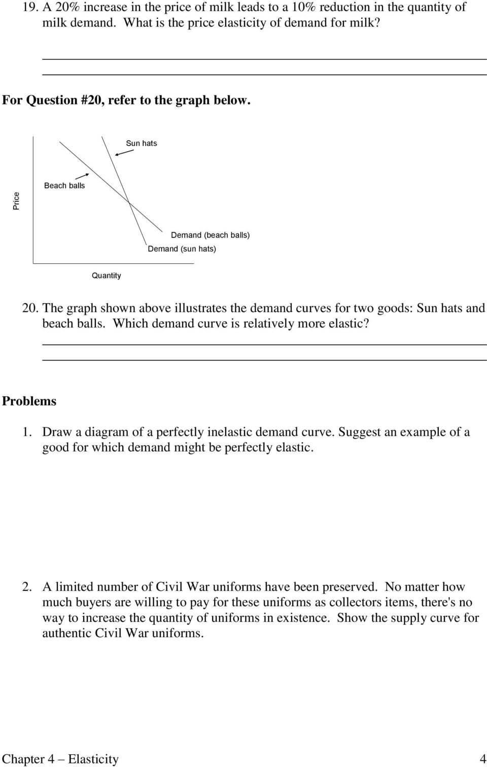 hight resolution of which demand curve is relatively more elastic problems 1 draw a diagram of a