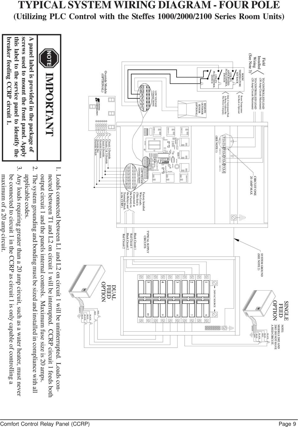 hight resolution of override hot override switch c e a field installed wiring see note 3 to controlled load