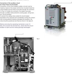 connection of the auxiliary circuit for vmax fixed circuit breaker connection of the circuit  [ 960 x 1315 Pixel ]