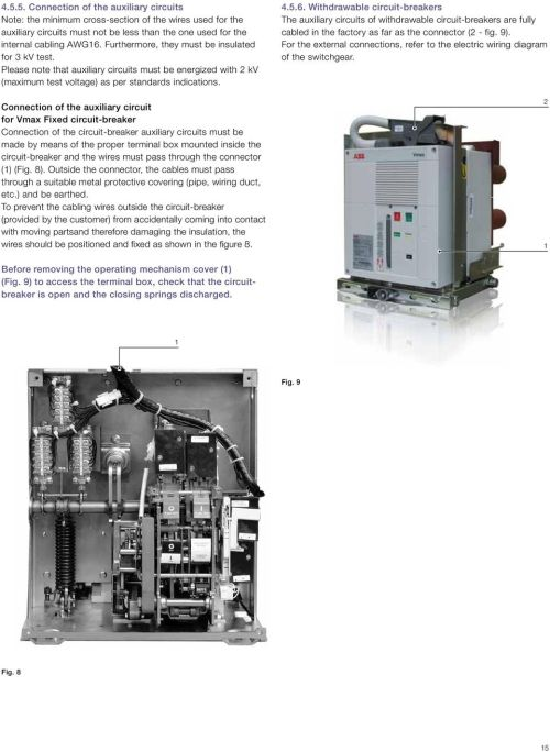 small resolution of connection of the auxiliary circuit for vmax fixed circuit breaker connection of the circuit