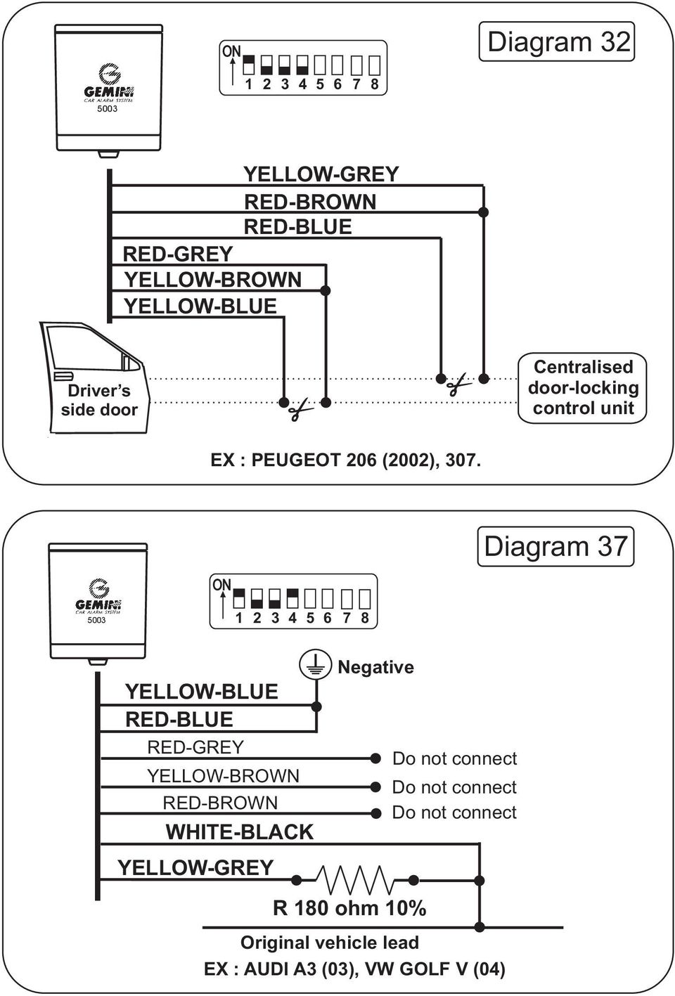 medium resolution of  2002 307 5002 3 installation instructions pdf 2002 307 skoda fabia central locking wiring diagram