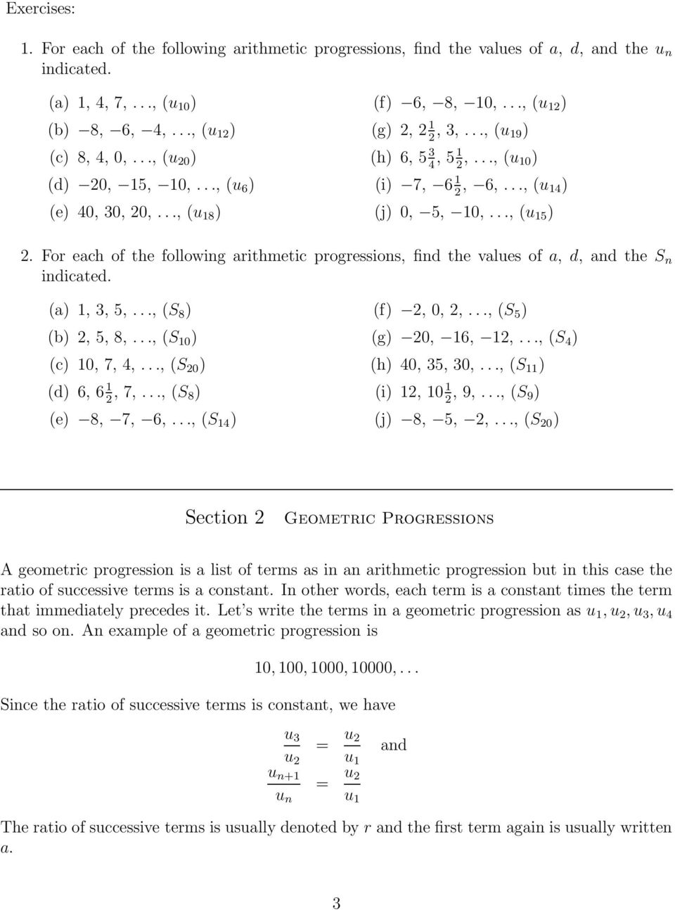 medium resolution of Arithmetic Progression - PDF Free Download