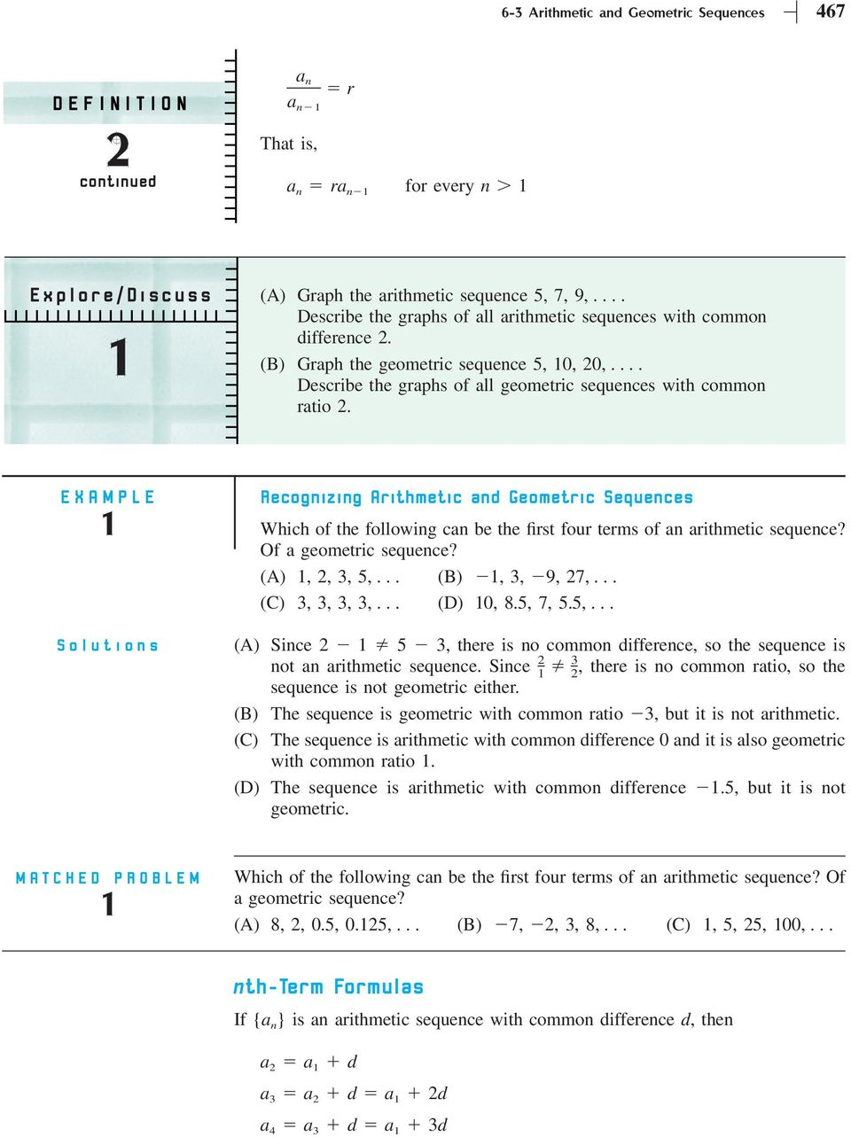 hight resolution of Section 6-3 Arithmetic and Geometric Sequences - PDF Free Download