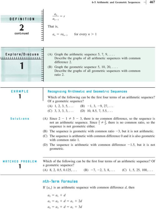 small resolution of Section 6-3 Arithmetic and Geometric Sequences - PDF Free Download