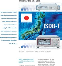 the isdb t standard is about to be launched in japan and rohde  [ 960 x 1438 Pixel ]