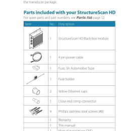 parts included with your structurescan hd for spare parts and part numbers see parts list [ 960 x 1495 Pixel ]