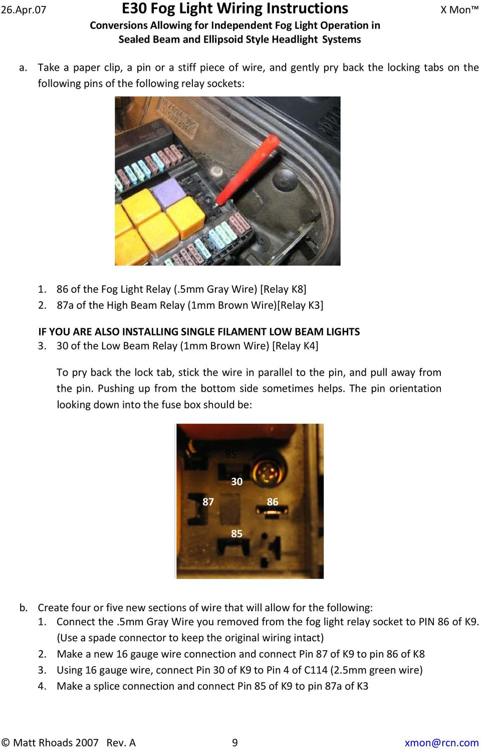 hight resolution of 30 of the low beam relay 1mm brown wire relay k4 to