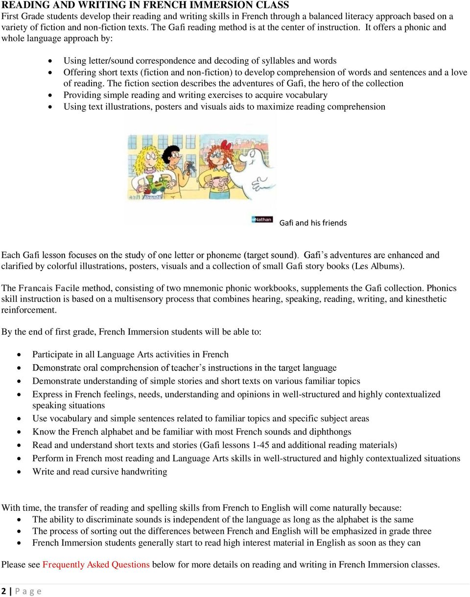 hight resolution of FRENCH IMMERSION GRADE ONE - PDF Free Download