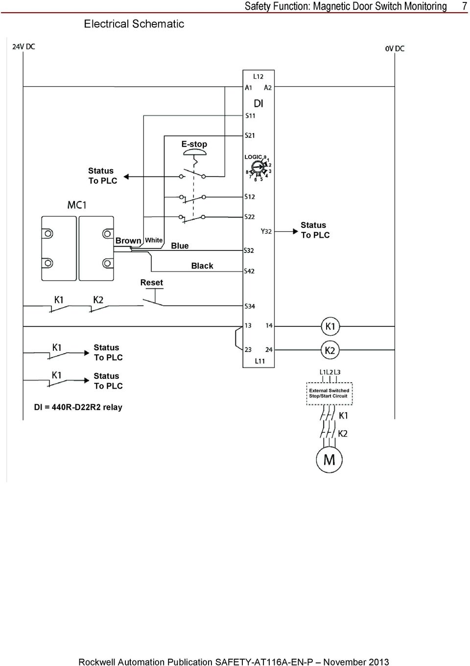 hight resolution of  em 440r d22r2 safety relay wiring diagram msr6r t safety relay on ge