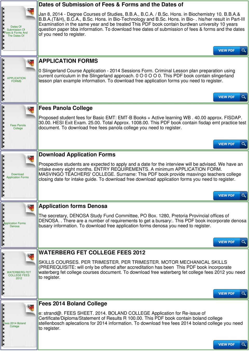 Evelyn Hone College Application Forms And Fees - PDF