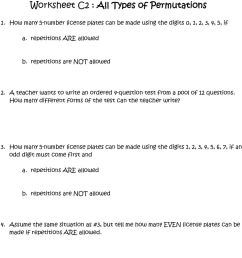 Worksheet A2 : Fundamental Counting Principle [ 1210 x 960 Pixel ]