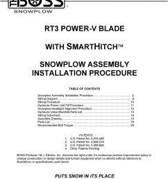 rt3 power v blade snowplow assembly installation procedure pdf boss snow plow lights trip blade boss [ 960 x 1118 Pixel ]