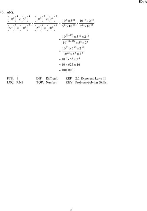 small resolution of Unit Two Practice Test: Powers and Exponent Laws - PDF Free Download