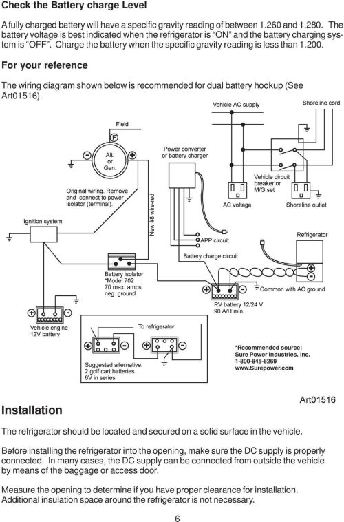 small resolution of for your reference the wiring diagram shown below is recommended for dual battery hookup see