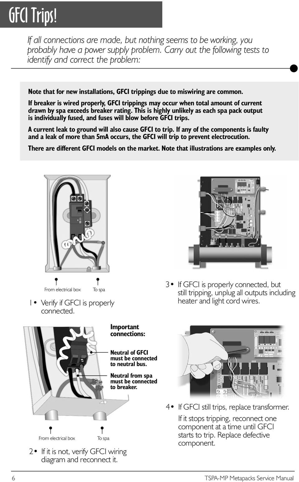 hight resolution of if breaker is wired properly gfci trippings may occur when total amount of current drawn