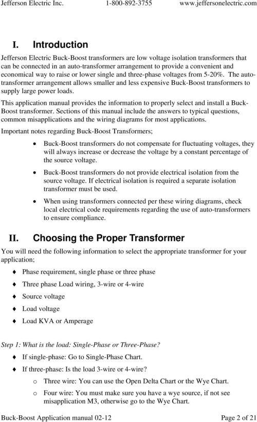 small resolution of this application manual provides the information to properly select and install a buck boost transformer