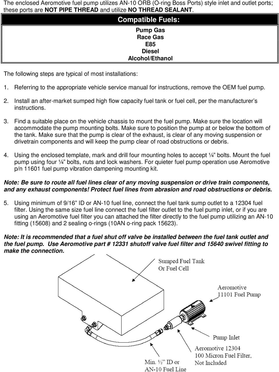 medium resolution of referring to the appropriate vehicle service manual for instructions remove the oem fuel pump