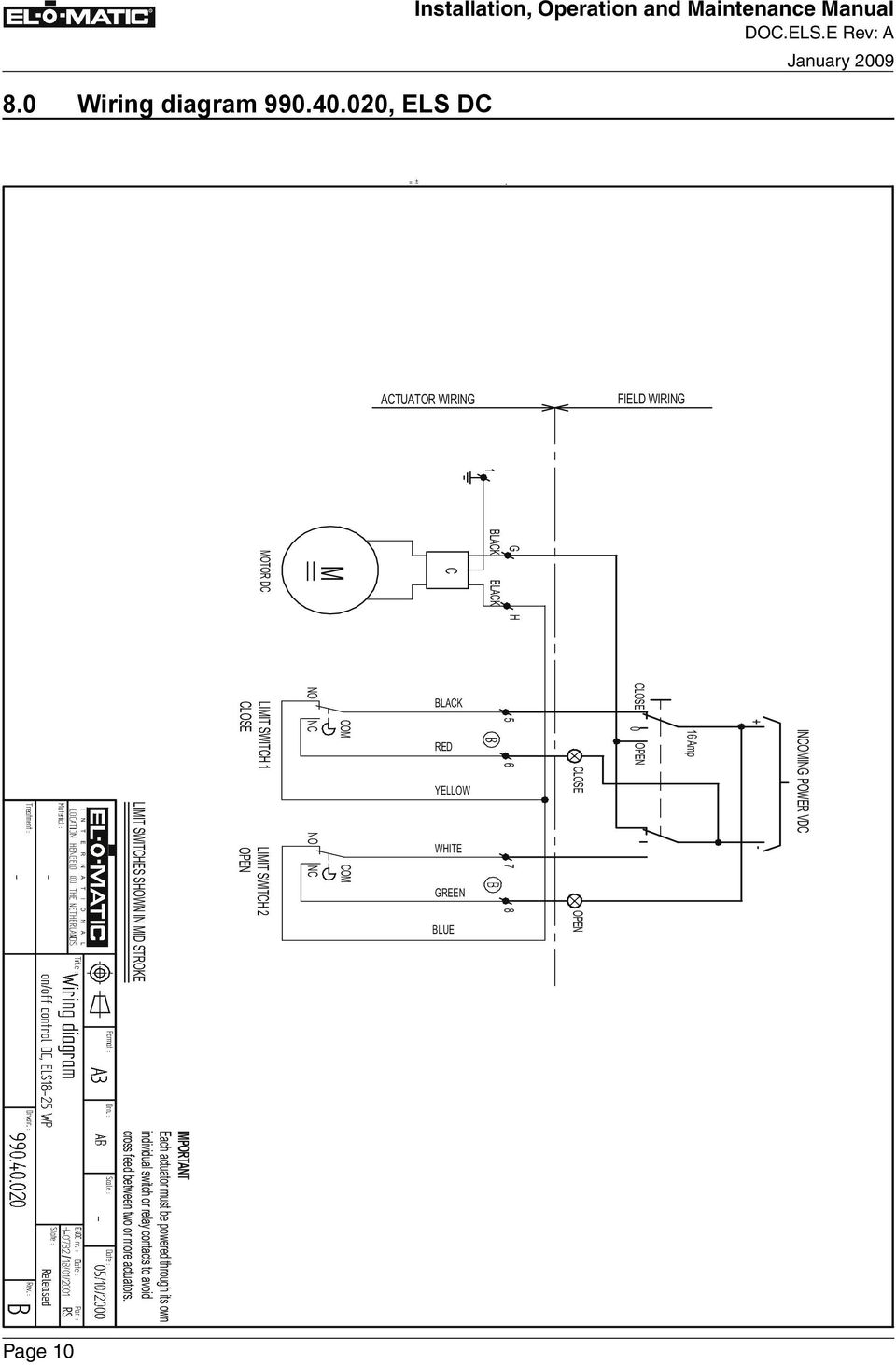 medium resolution of n a t i o n a l limit switches shown in mid stroke limit switch 1 close limit switch 2 open no 11 9 0 wiring diagram