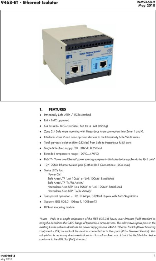 small resolution of interfaces zone 2 and non approved devices to the intrinsically safe 9400 series
