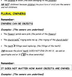 Grammar \u0026 Punctuation/Punctuation Marks/3.45 APOSTROPHES 4.- Possessive  Plural. APOSTROPHES 4. Possessive Plural (i) - PDF Free Download [ 1359 x 960 Pixel ]