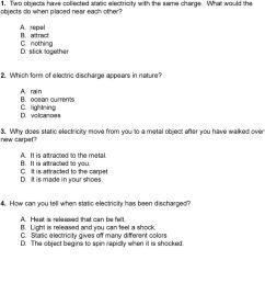 Grade 5 Standard 4 Unit Test Static Electricity - PDF Free Download [ 1365 x 960 Pixel ]