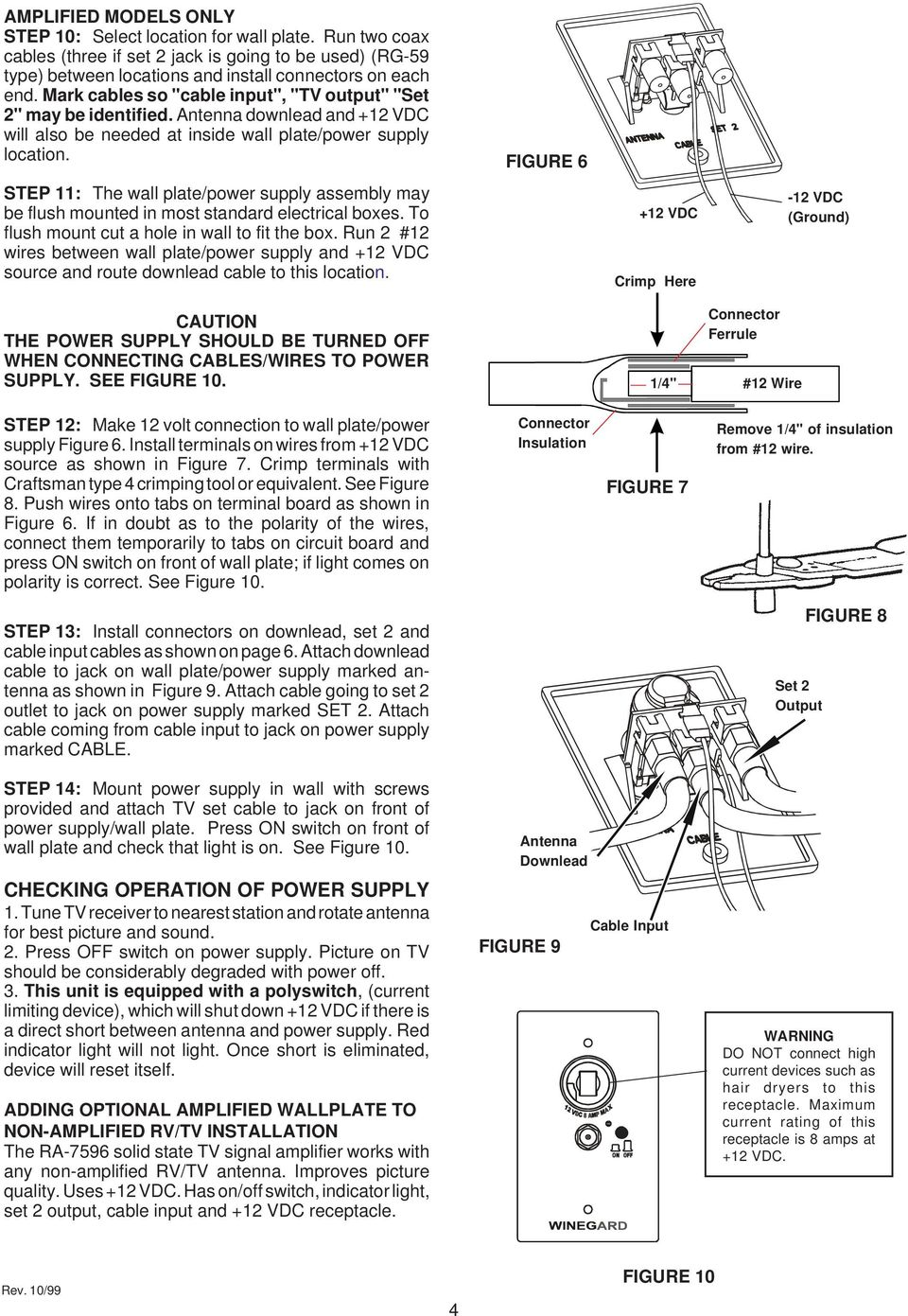 hight resolution of figure 6 step 11 the wall plate power supply assembly may be flush mounted