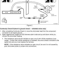 after completing continuity check a move the ohmmeter lead from the component connector to an [ 960 x 1427 Pixel ]