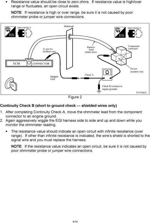 small resolution of after completing continuity check a move the ohmmeter lead from the component connector to an