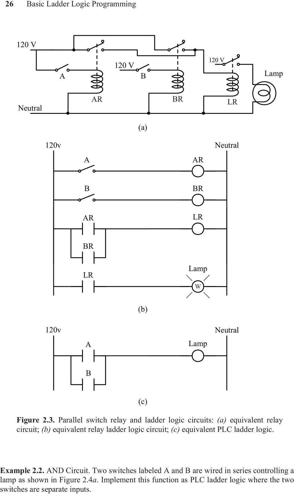 medium resolution of parallel switch relay and ladder logic circuits a equivalent relay circuit