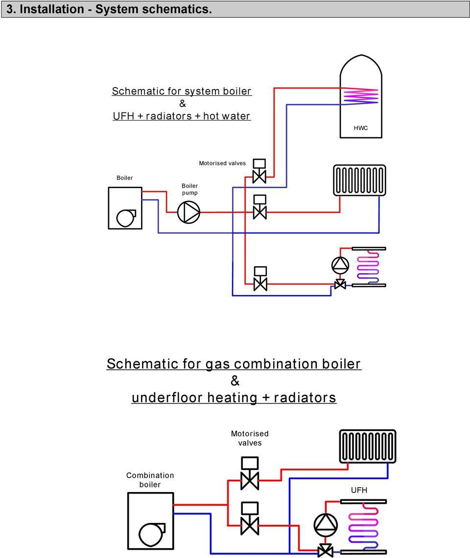 medium resolution of  combination boiler ufh motorised valves boiler boiler pump schematic for gas