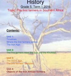 History Grade 5: Term Topic: The first farmers in Southern Africa - PDF  Free Download [ 1242 x 960 Pixel ]