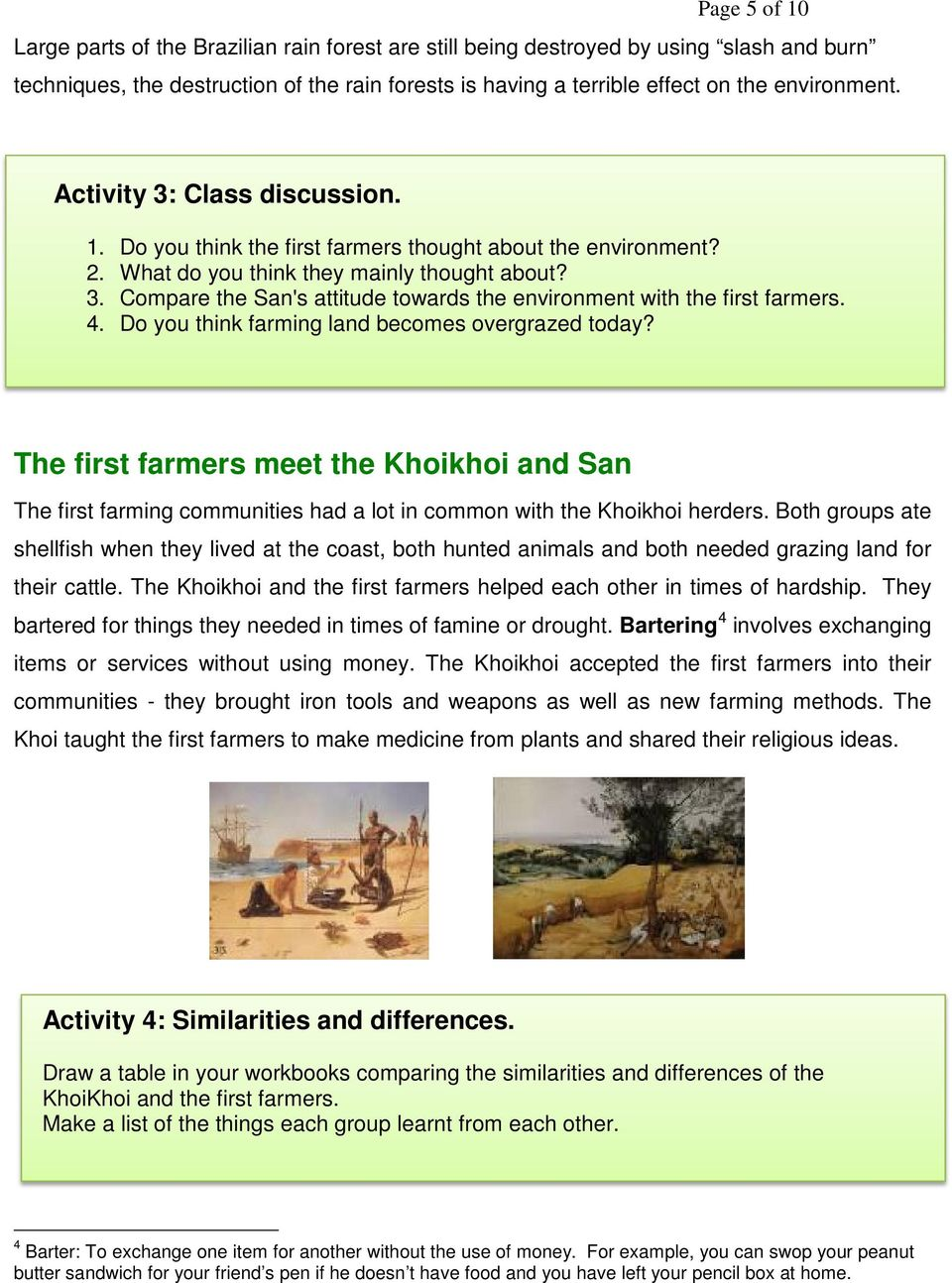 medium resolution of History Grade 5: Term Topic: The first farmers in Southern Africa - PDF  Free Download