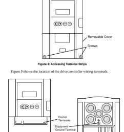 figure 4 shows the location of the cover screws 16 altivar 18 drive controller wiring [ 960 x 1569 Pixel ]