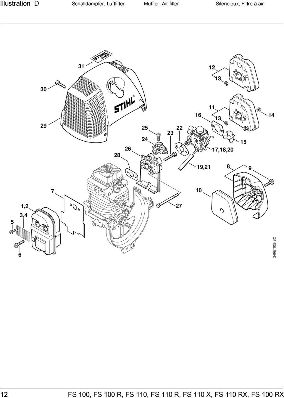 Stihl Trimmer Wiring Diagram. . Wiring Diagram
