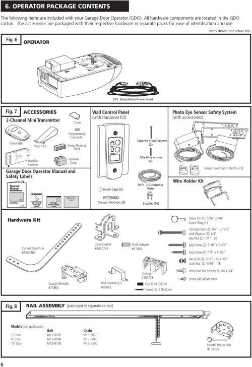 small resolution of m55 residential garage door operator pdf