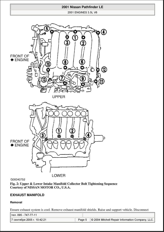 medium resolution of 2001 nissan pathfinder le 2001 engines 3 5l v6 pdf rh docplayer net
