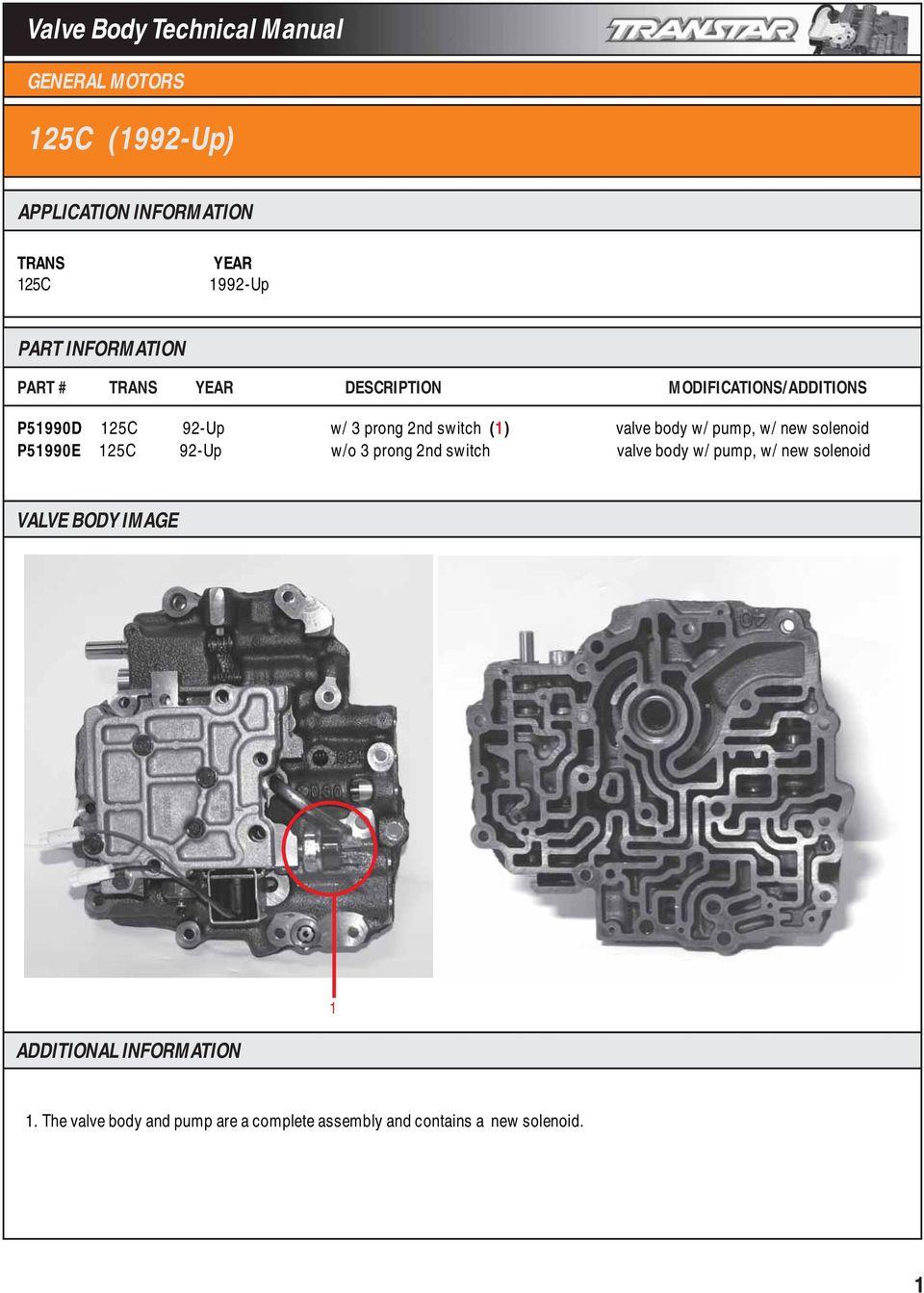 medium resolution of w o 3 prong 2nd switch valve body w pump w new